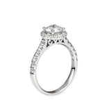 Classic Round Brilliant Cut Diamond Halo