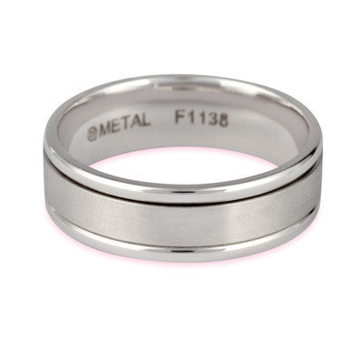 7mm gold and titanium wedding ring - Wedding Ring For Him