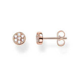Circles Pav'e Rose Stud Earrings - TH1848CZR