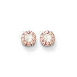 Classic - Mother of Pearl Rose Earrings-TH1859MOPR