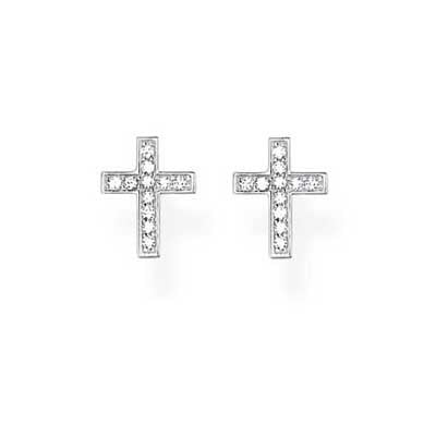 Ear Studs - Cross Pav'e-TH1880CZ