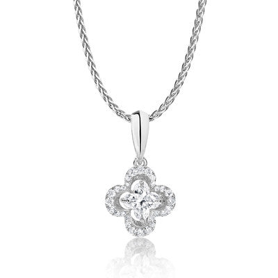 Lily Cut Diamond Pendant
