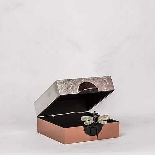 Nude Silver Horn Dragonfly Box