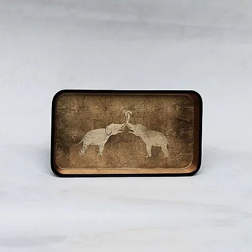 Kissing Elephants Tray (Rectangle)