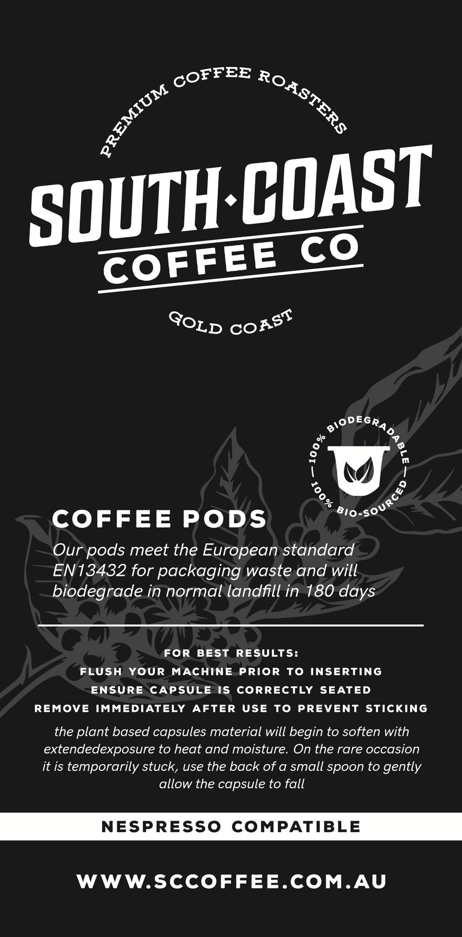 Biodegradable Coffee Pods - 20 Pods per pack