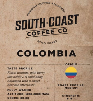 South Coast Coffee Co - Single Origin - Columbia