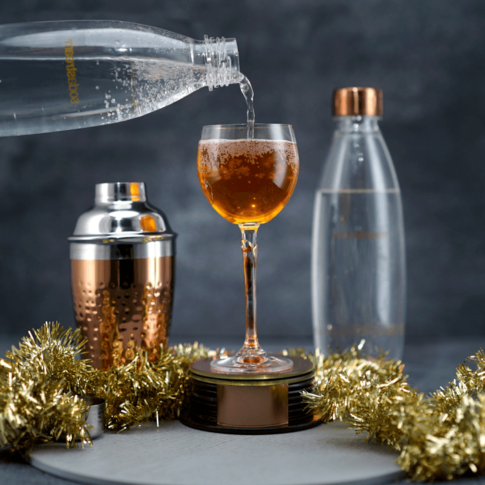 Toffee Fizz Holiday Cocktail