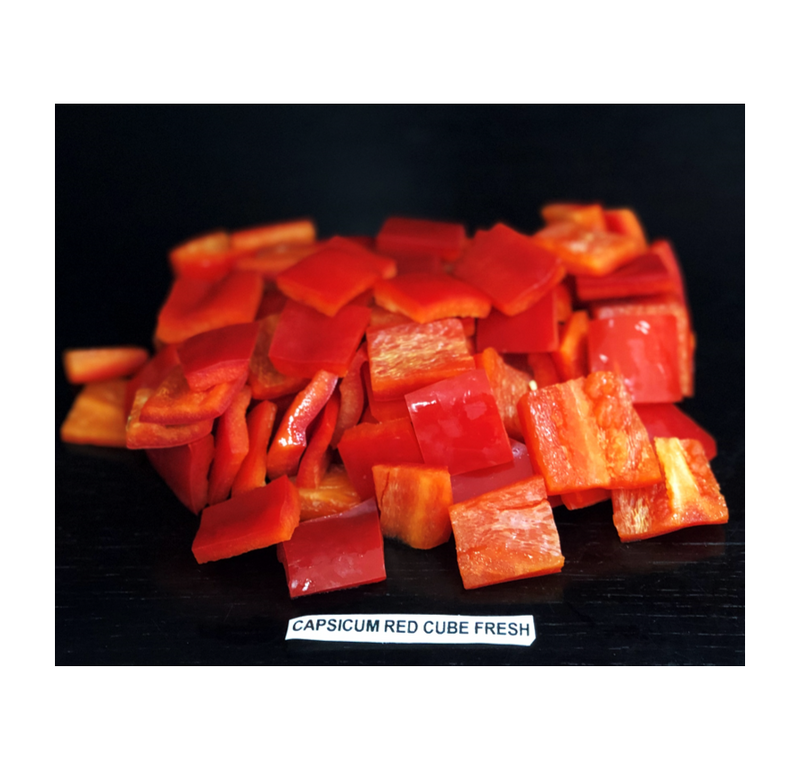 Capsicum Red Cube Fresh