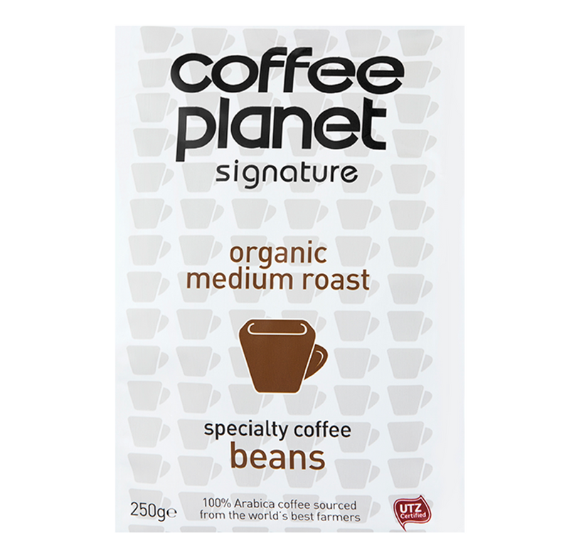Organic Medium Roast Specialty Coffee (Beans) - 250g Bag