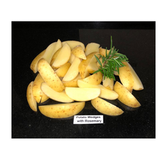 Potato New Wedges S/On With Rosemary