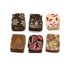 Praline Chocolates with Christmas Logo's, 1 kg