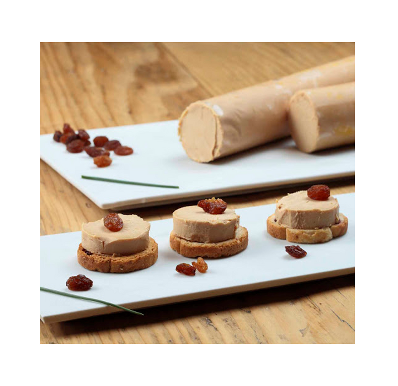Block of duck Foie Gras Log/Flute (for Canapes), 250g Pkt