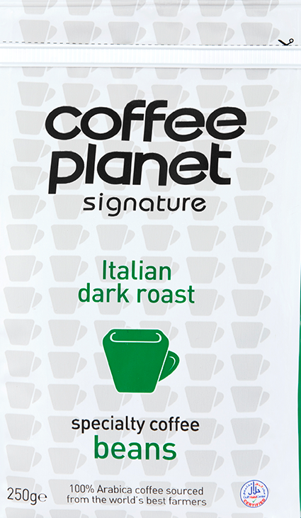 Italian Dark Roast Coffee (Beans) - 250g Bag