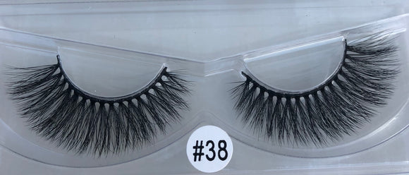 #38 super fluffy strip lashes