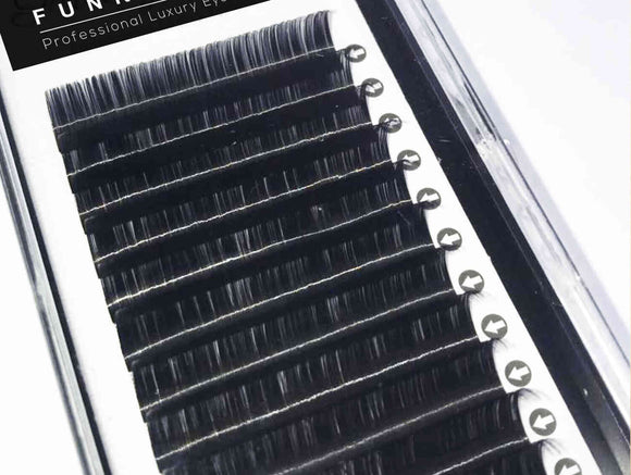 Funky Lash Classic Silk Lash Extensions Strip Tray Single length