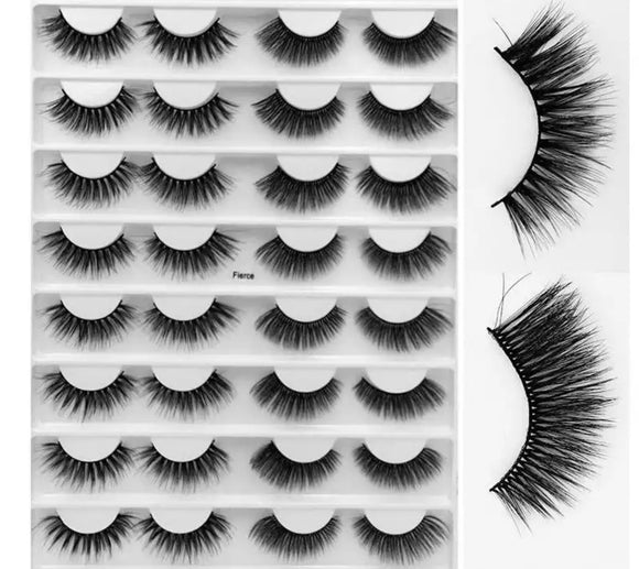 16 pairs strip eyelashes-Style Fierce
