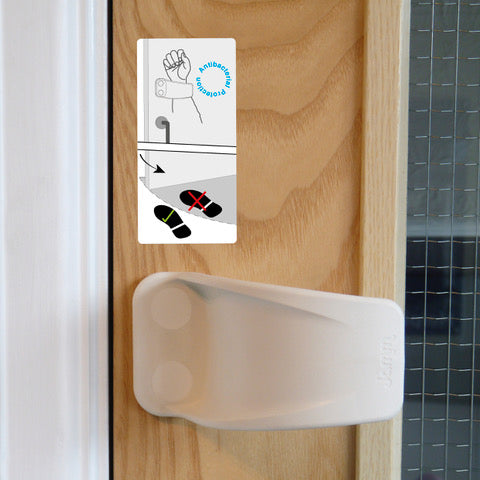 JAMM Hands free door handle with instruction sticker