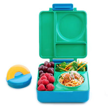 Load image into Gallery viewer, OmieBox - Hot and Cold Thermos Lunchbox - Meadow Green