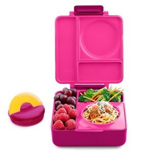 OmieBox - Hot and Cold Thermos Lunchbox - Pink Berry