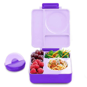 OmieBox - Hot and Cold Thermos Lunchbox - Purple Plum