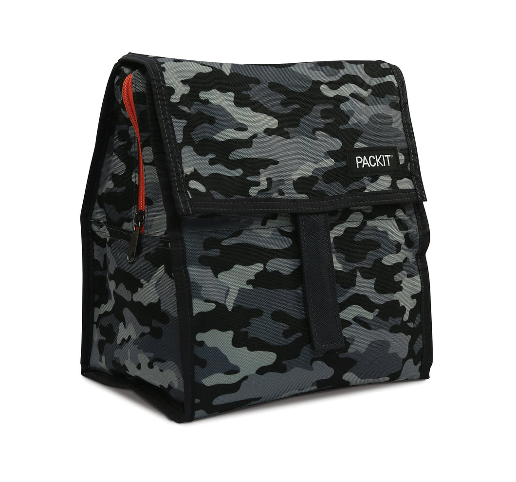 Packit Freezable Charcoal Camo Personal Cooler – Front View