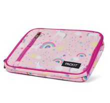 Load image into Gallery viewer, Packit Freezable Unicorn Pink Classic Lunchbox Bag - Collapsed View