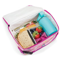 Load image into Gallery viewer, Packit Freezable Unicorn Pink Classic Lunchbox Bag – In-use View