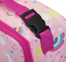Load image into Gallery viewer, Packit Freezable Unicorn Pink Classic Lunchbox Bag – Buckle usage View