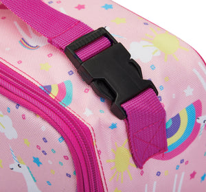 Packit Freezable Unicorn Pink Classic Lunchbox Bag – Buckle usage View