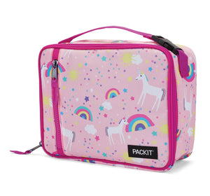 Packit Freezable Unicorn Pink Classic Lunchbox Bag – Front View