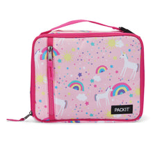 Load image into Gallery viewer, Packit Freezable Unicorn Pink Classic Lunchbox Bag – Front View