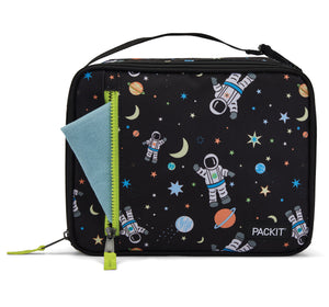 Packit Freezable Spaceman Classic Lunchbox Bag - Front Pocket Usage View