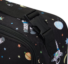 Load image into Gallery viewer, Packit Freezable Spaceman Classic Lunchbox Bag - Buckle usage View