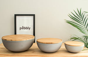 Salad bowl (S) - Light grey