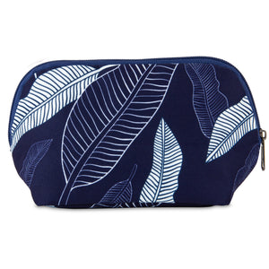 Snack Bag - Navy Leaves