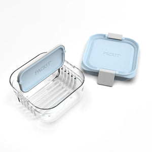 Mod Snack Bento Container - Icy Blue