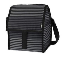 Load image into Gallery viewer, Freezable Deluxe Bag - Black & Grey Stripes