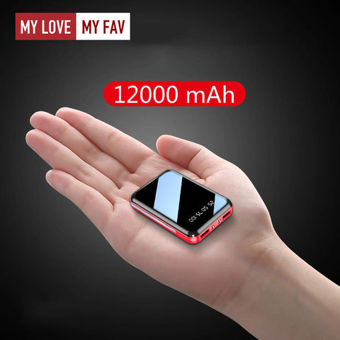 Mini Power Bank 12000mAh - mylovemyfav