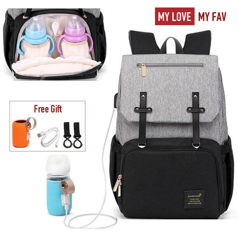 USB Charger Diaper Backpack Bag - mylovemyfav
