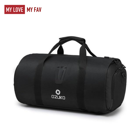 Waterproof Multi-function Duffle Bag with Shoe Pouch for Men - mylovemyfav