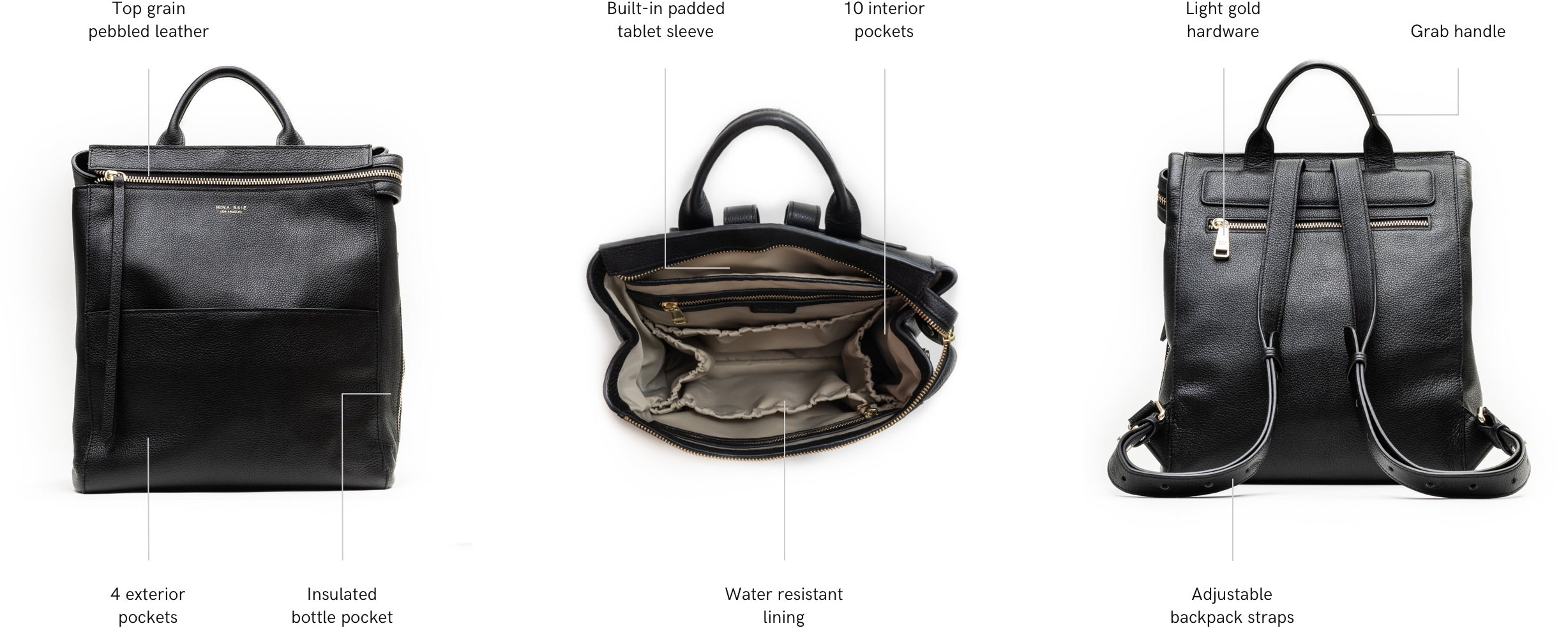 harper mini backpack features