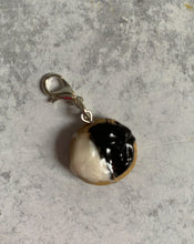 Load image into Gallery viewer, Black and White Cookie Stitch Marker/Progress Keeper