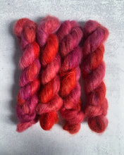 Load image into Gallery viewer, OOAK Cherry Bomb Mohair Silk Yarn