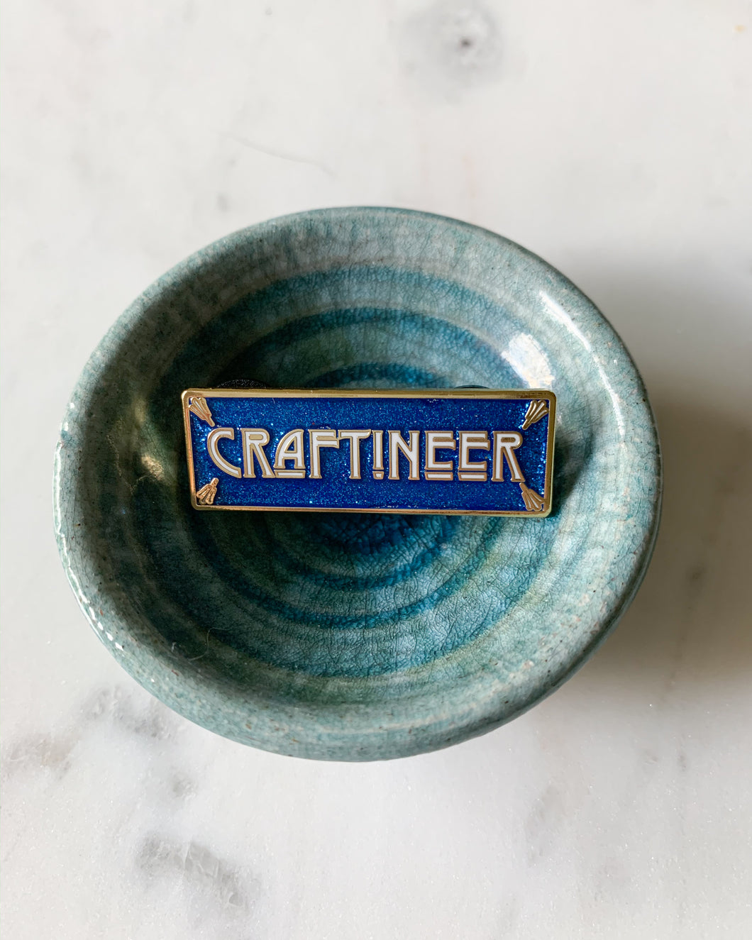 Craftineer Enamel Pin