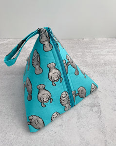 Manatees Sock-Sized Project Bag