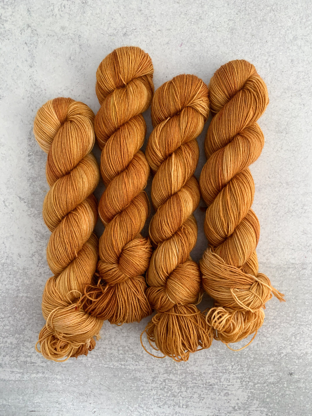 Harvest Gold BFL Sock Yarn