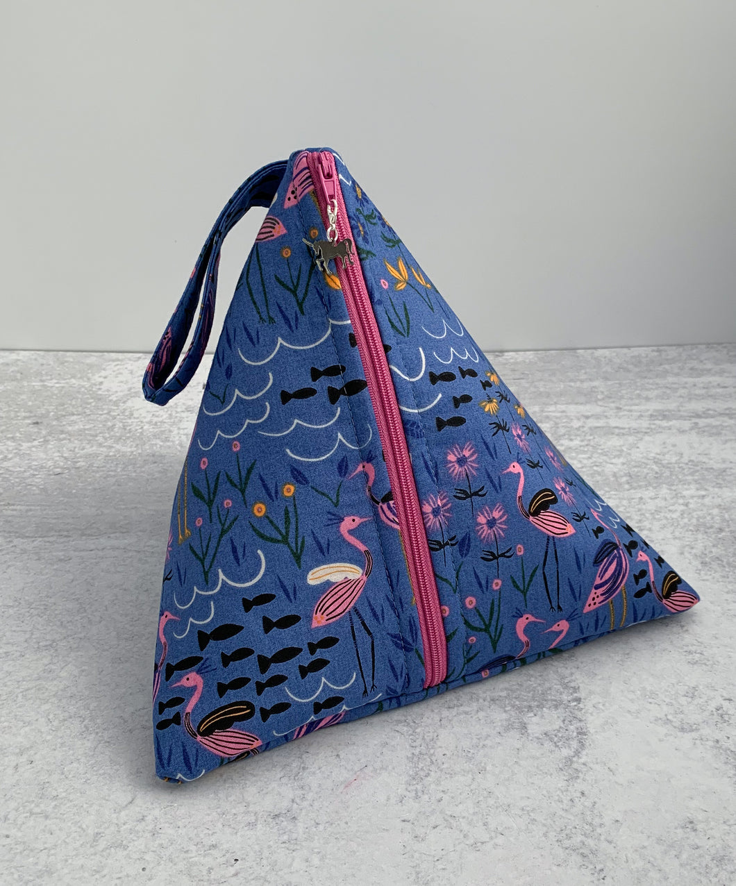 Moonlight Herons Sock-Sized Project Bag