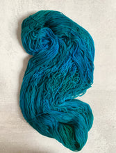 Load image into Gallery viewer, Electric Mrs. Peacock Targhee Sock Yarn