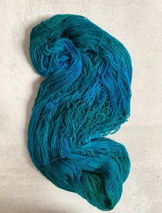 Electric Mrs. Peacock Targhee Sock Yarn