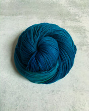 Load image into Gallery viewer, Electric Mrs. Peacock Pure BFL Yarn